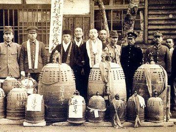 寺院の梵鐘も供出