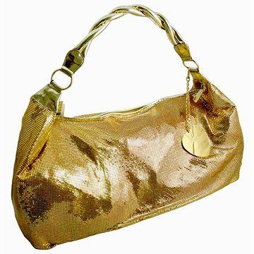 金ラメのバッグ
