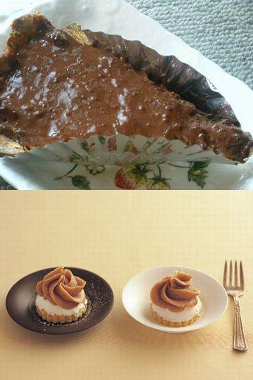 チョコレートパイとマロンクリーム