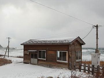 冬の驫木駅。寂すぃ~。