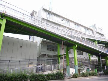 上野駅の反対側に出るための歩道橋