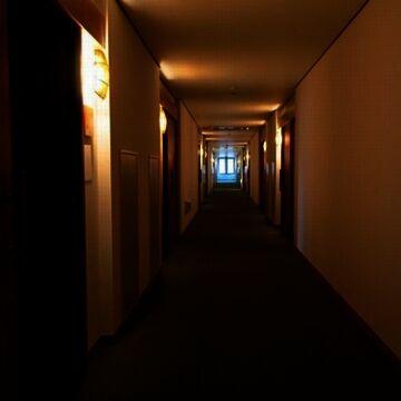 廊下が、真っ暗