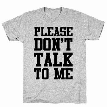 わたしに話しかけないで下さい