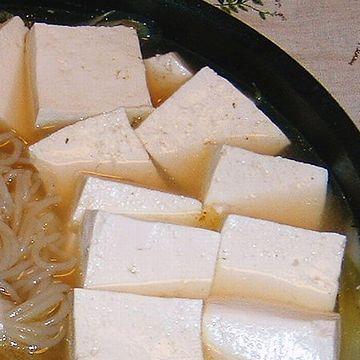 お豆腐を入れてチン