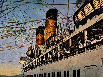 五色のテープが舞う全盛期の出航風景