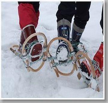 雪の中、かんじき履いて行かなきゃなりませんけど
