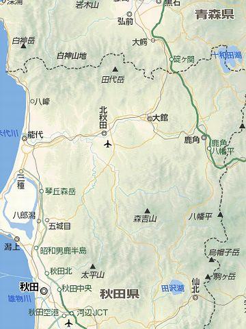 青森県との県境にある、十和田湖