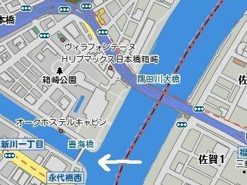 豊海橋の地図