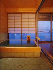 「皆美館」客室露天風呂