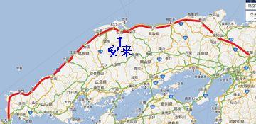 安来の管轄は、JR西日本で、会社が違います