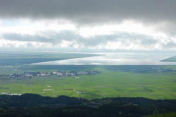 寒風山から見る八郎潟