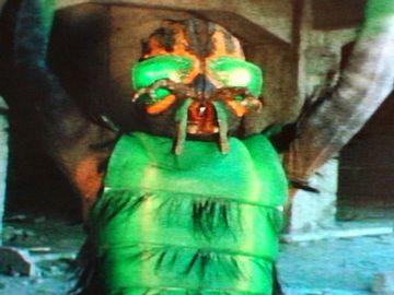 仮面ライダーに出てきたハエ男。チープです。