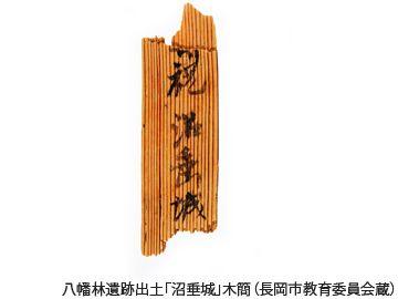 長岡市『八幡林遺跡』で出土した「沼垂城」と書かれた木簡(720年頃のもの)