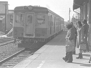 大畑線『田名部駅』。1976(昭和51)年早春。