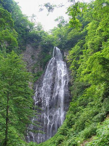 『くろくまの滝』は、高さ85メートル、幅15メートルの大滝です