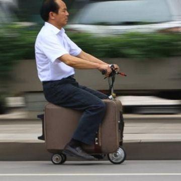 スーツケース型電動バイク