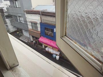 起きるとすぐに、窓を開けてみました