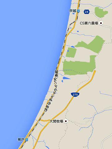 次の『有戸駅』から『吹越駅』までの間は、13.4キロあります