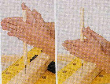 錐のように両手を擦り合わせる方法