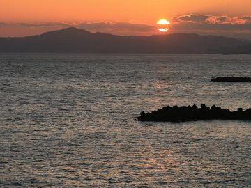 桂浜の夕日