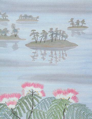 象潟や雨に西施がねぶの花