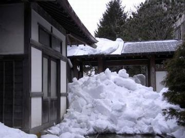 どうします、この屋根に雪が積もったら?
