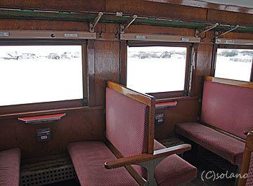 津軽鉄道『ストーブ列車』の車内