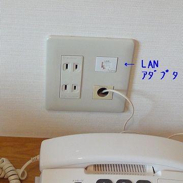 LANケーブルのアダプタ