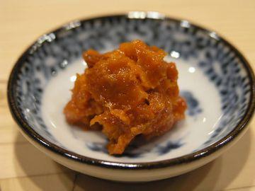 塩ウニ(コノワタ、カラスミと合わせ、日本三大珍味だそうです)