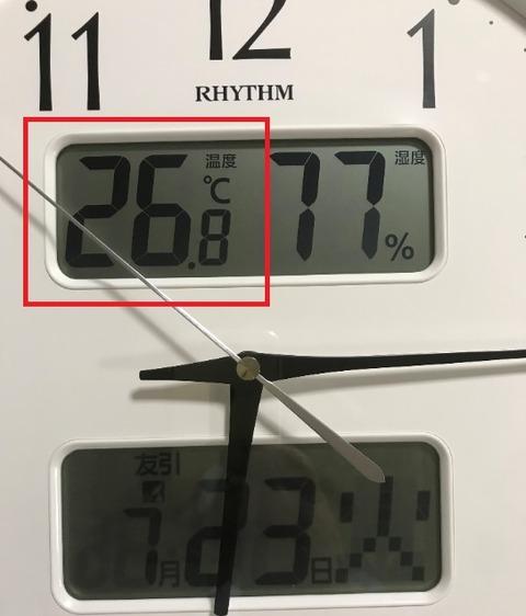 温度が日付に見える