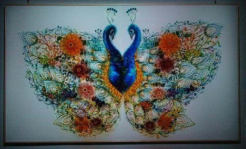H28女子美メディアアート表現領域4年 長谷尾千花さん「孔雀蝶」