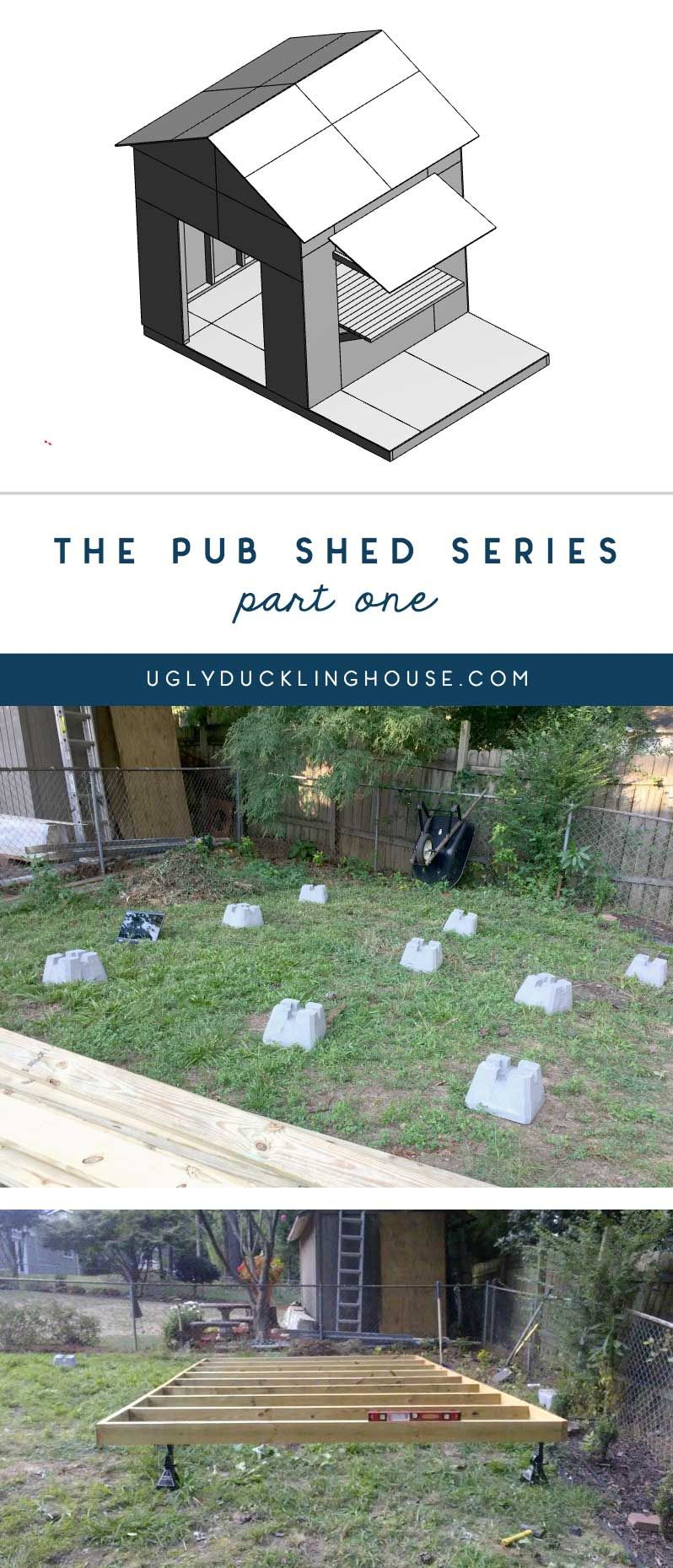 pub shed series - xây dựng khung và thiết lập bố cục