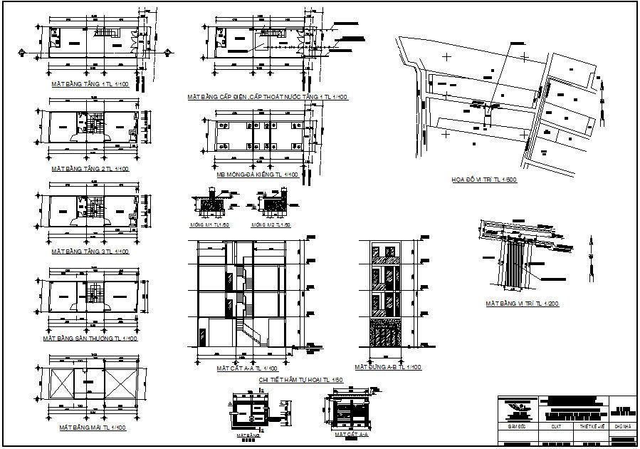 bảng vẽ thiết kế kiến trúc