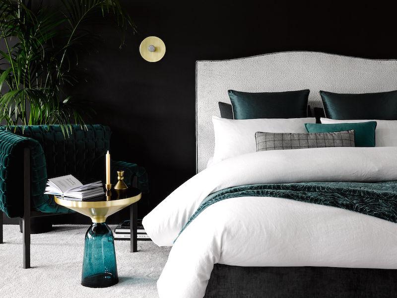 Đầu giường Fulham ở Ashton Velvet.