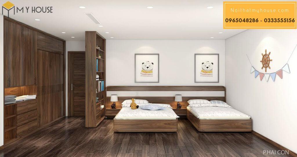 Tab đầu giường gỗ óc chó