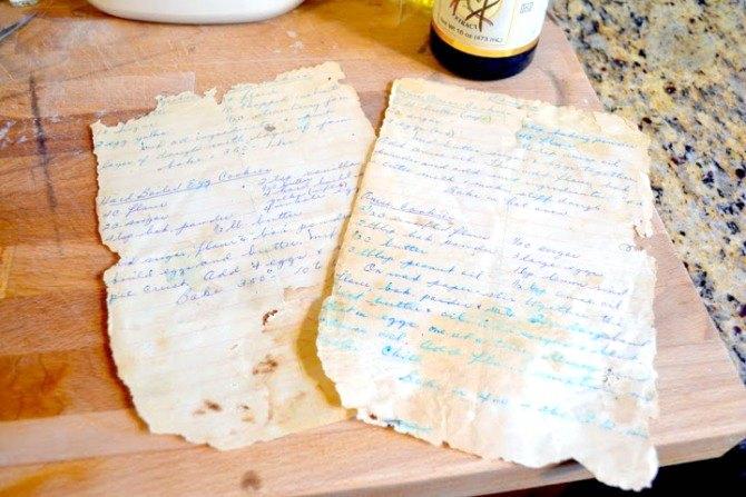 công thức bánh quy viết tay tuyệt vời