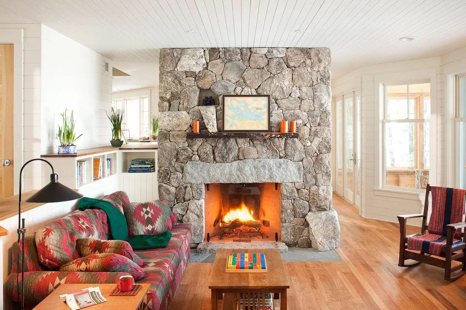 Lò sưởi đá ghép 18 kiểu lò sưởi bằng đá tuyệt đẹp cho mọi phong cách thiết kế nhà có lò sưởi 18 kiểu lò sưởi bằng đá tuyệt đẹp cho mọi phong cách thiết kế nhà có lò sưởi y tuong thiet ke lo suoi bang cac vien da xep chong len nhau 05