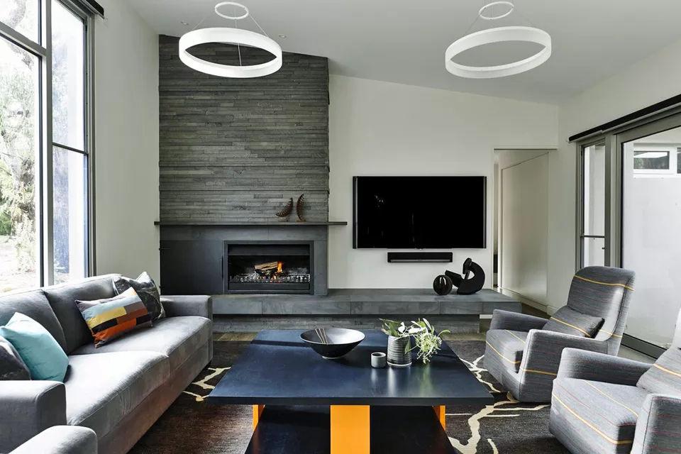 Lò sưởi sử dụng đá Bluestone 18 kiểu lò sưởi bằng đá tuyệt đẹp cho mọi phong cách thiết kế nhà có lò sưởi 18 kiểu lò sưởi bằng đá tuyệt đẹp cho mọi phong cách thiết kế nhà có lò sưởi y tuong lo suoi su dung da voi sa thach bluestore 08