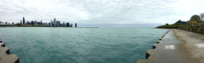 Đường nước trên bầu trời Chicago