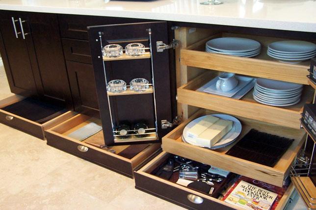 dưới ý tưởng tủ đựng thức ăn trong tủ bếp