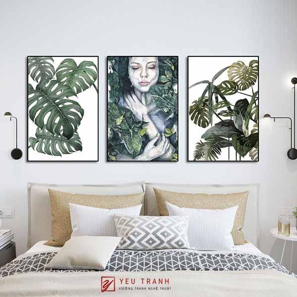 Tranh tropical - lá cây