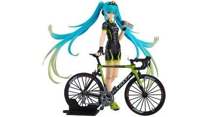 初音ミクさんモデルっぽい自転車