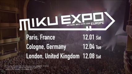 「HATSUNE MIKU EXPO 2018 EUROPE」告知