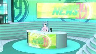 Mitchie Mさんの新曲「【ニュース速報】初音ミクが女子アナに挑戦!『ニュース39』番組MV」