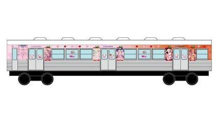 桜ミクさんラッピング電車