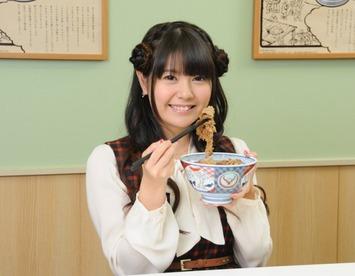 【朗報】竹達彩奈さん、牛丼の食べ方を公開www