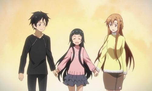 SAOのキリトさんとアスナのAIとの家族ごっこwww
