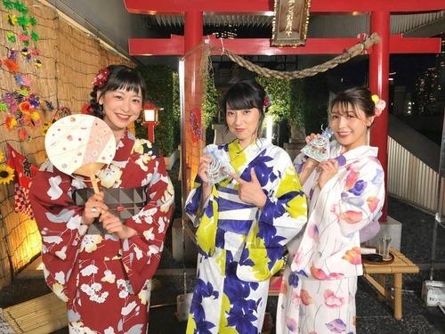 【画像】声優・宮村優子、新田恵海、徳井青空の3人が浴衣姿が美しい・・・