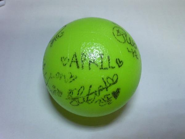 APRILサインボール