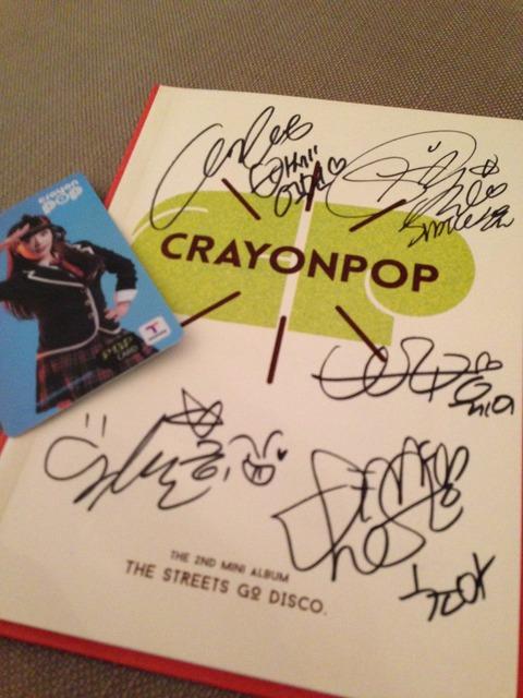 CRAYON POPサイン
